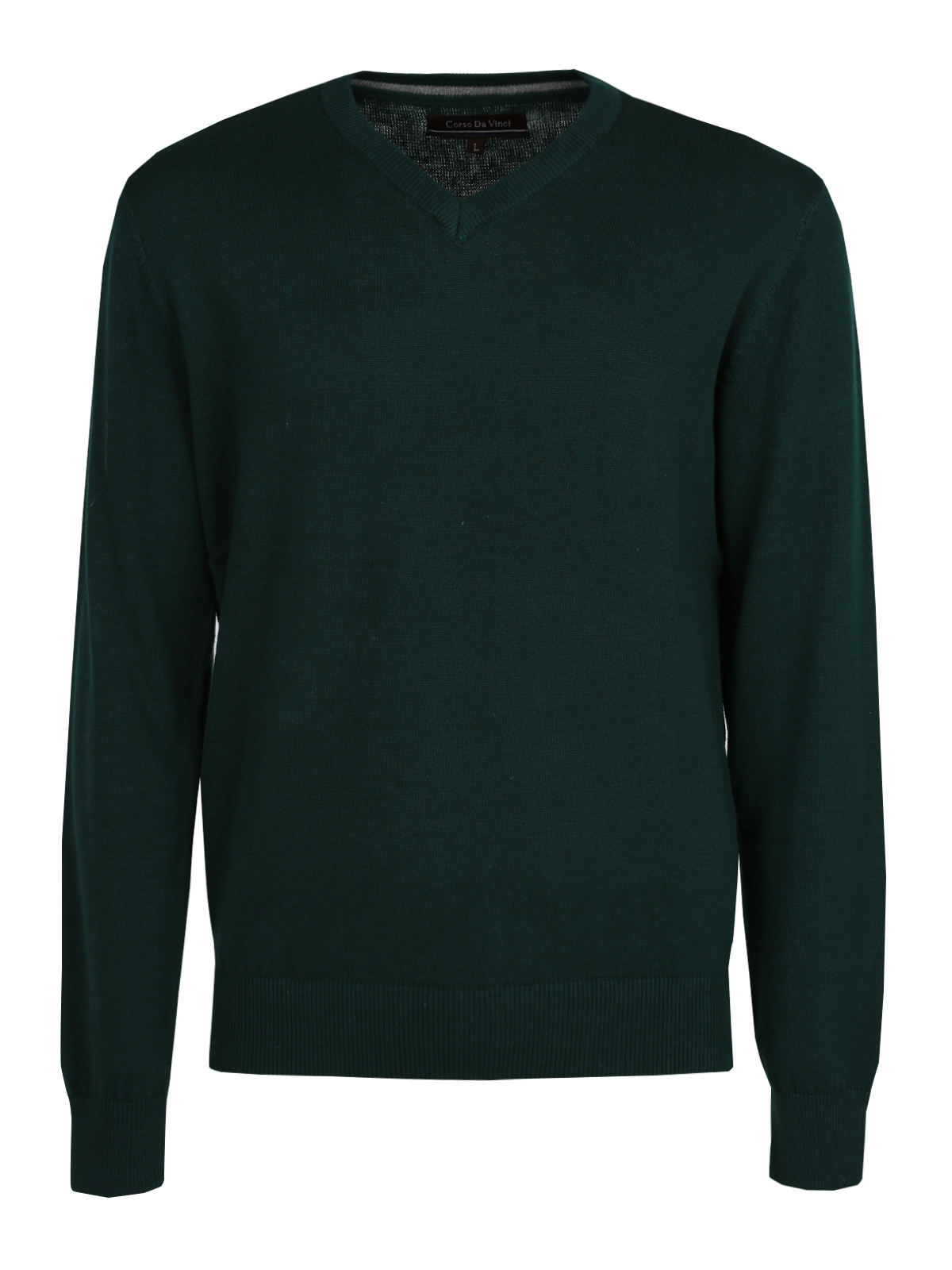 Pullover Cotton V-neck-Green