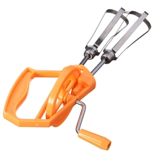 Mini Handle Egg Beater Hand Mixer Shaker Frother Blender Egg Whisk For Cream Coffee Milk String Kitchen Cooking Tools Orange