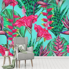 Flowers Plant Tropical Rain Forest Background Wall Factory Wholesale Wallpaper Mural Custom Photo Wall цены онлайн