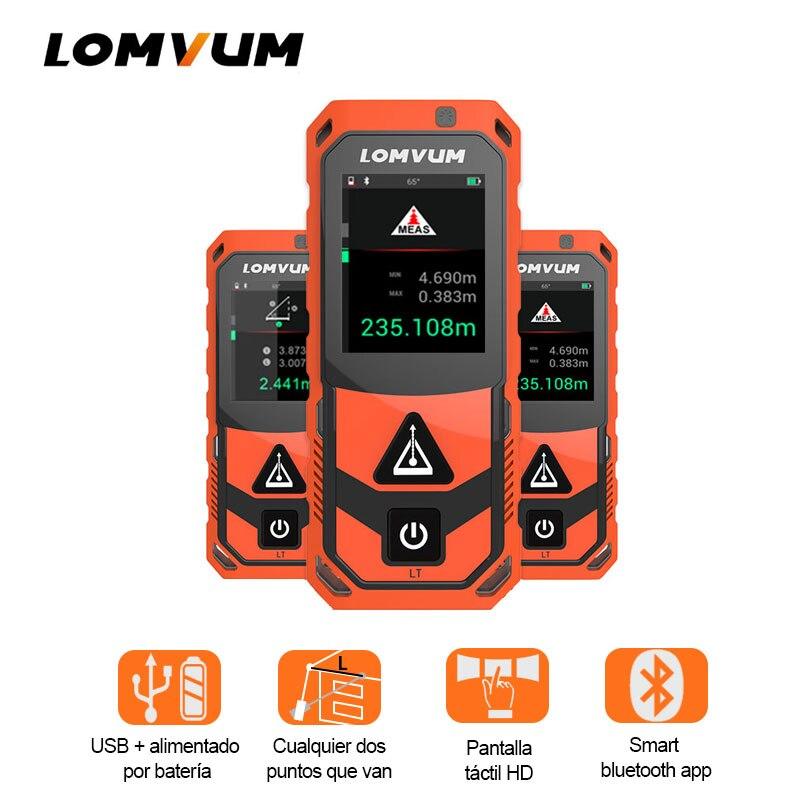 LOMVUM New Arrival Bluetooth USB Laser Rangefinders Digital Laser Distance 200m Meter Distance Battery powered Measurer