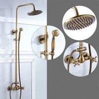 Bathroom Shower System, Antique Brass, F85 A1, soild brass