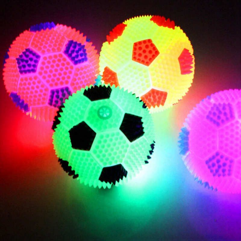 6.5cm Luminous Bouncing Ball Night Light Flash Football  Vent Ball Children Pet Game Toy Dog Cat Kids Girls Boys Gift