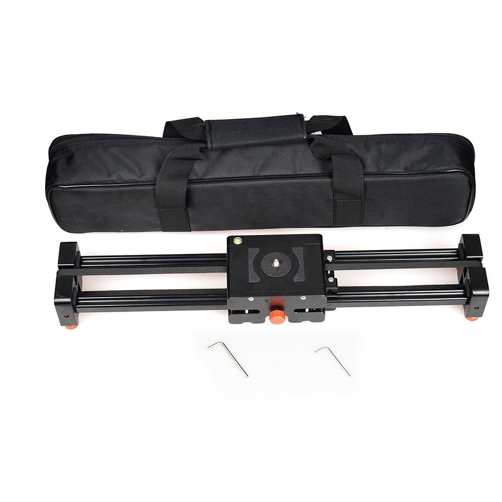 Commlite CS V500 Retractable Video Slider 50cm Dolly Track Stabilizer 1m Actual Sliding Distance Load Up 8kg+3 Way Fluid Head - 4