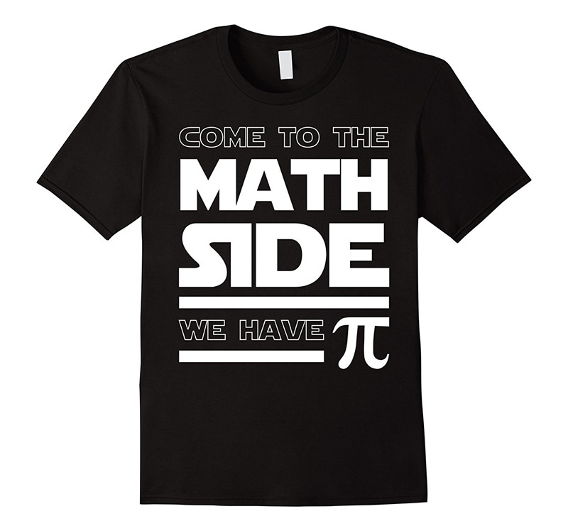 Graphic Shirts Crew Neck Short-Sleeve Fashion 2018 Mens Come To The Math Side We Have Pi Tees
