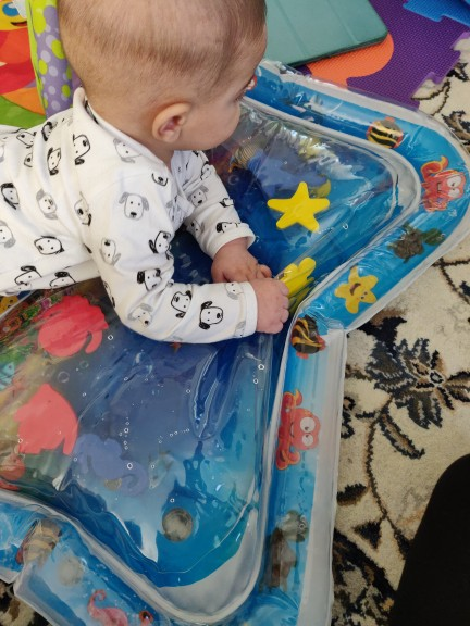 Best Tummy Time Inflatable Baby Water Mat photo review