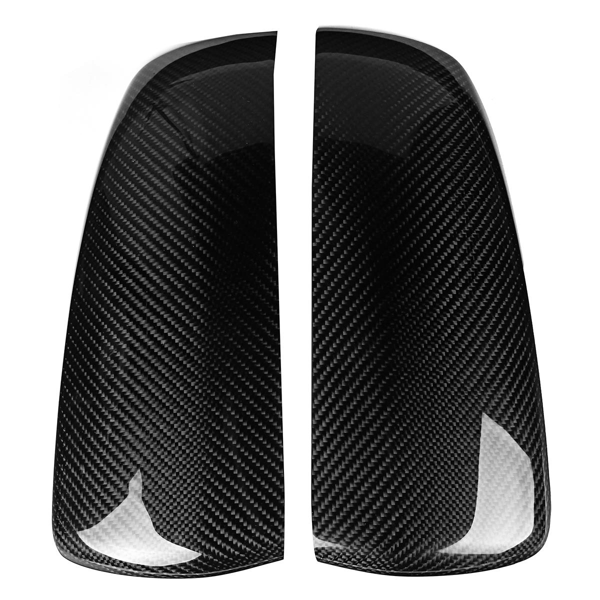 2Pcs Carbon Fiber Rear Door Side Wing Mirror Black Covers Cover Caps For BMW X5 X6 E70 E71 Exterior Parts Replacement direct replacement carbon fiber wing mirror covers for bmw x5 f15 x6 f16 facelift auto side mirror caps car styling