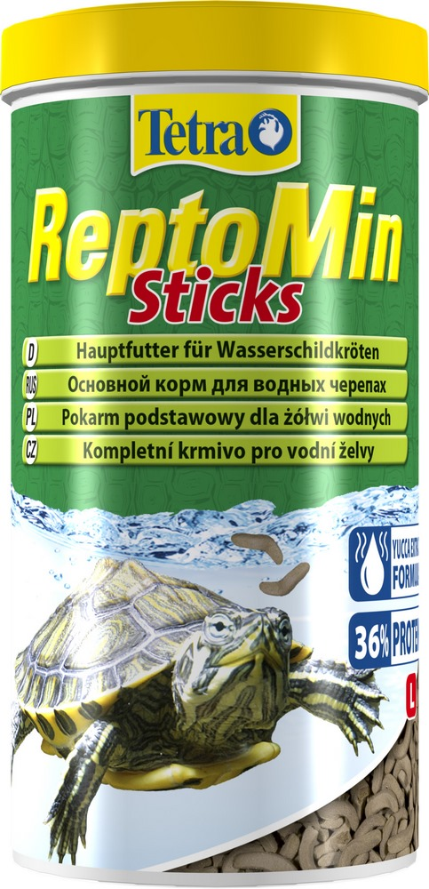 Turtles food Tetra ReptoMin feed in the form of sticks for aquatic turtles, 1 l. цена