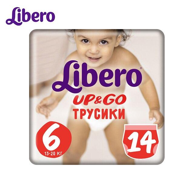 Трусики-подгузники Libero Up&Go Size 6 (13-20 кг), 14 шт.