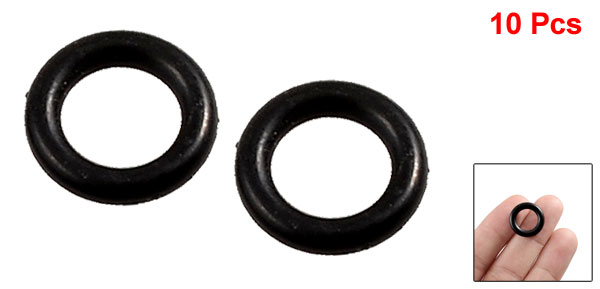 10 Pcs 23mm x 2.5mm Mechanical Rubber O Ring Oil Seal Gaskets