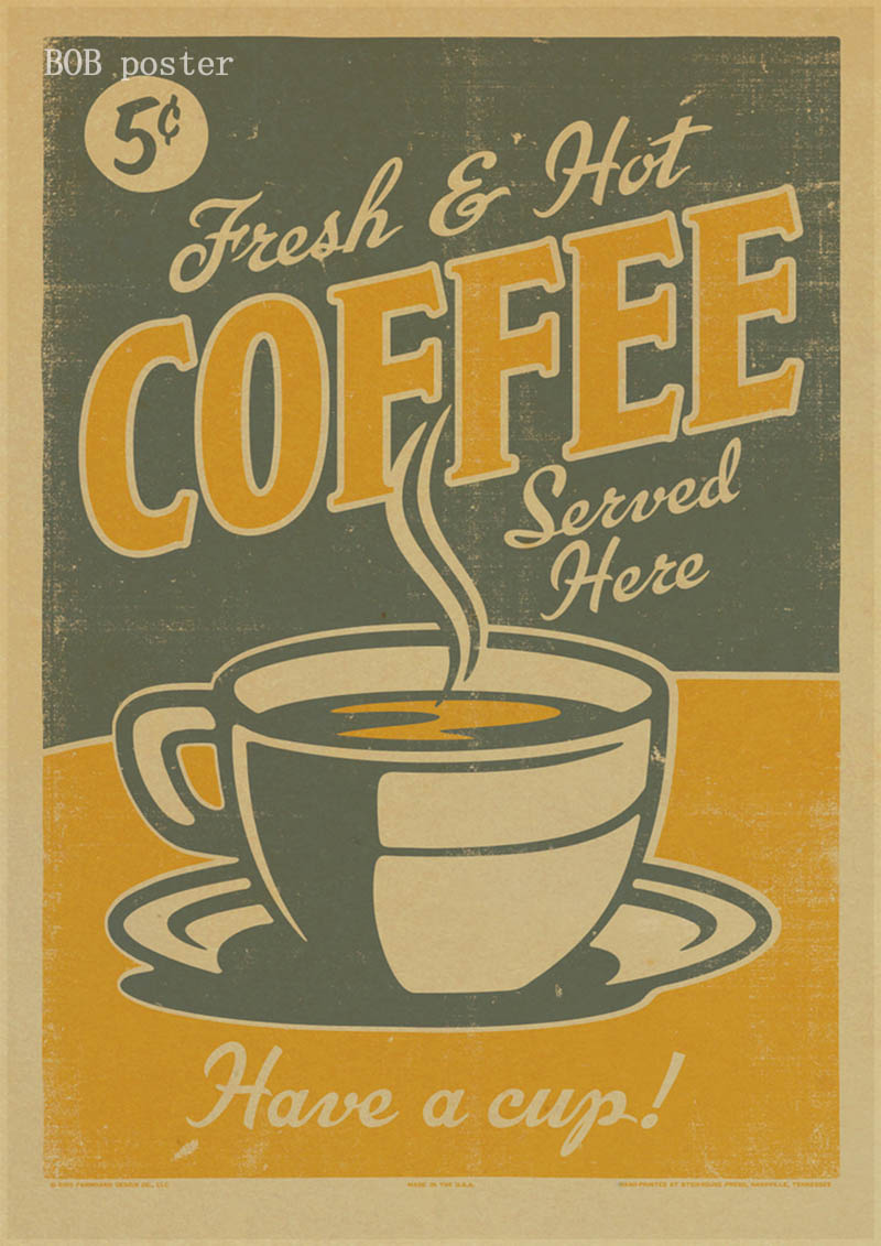 Coffee Espresso Matching Diagram Poster Retro Kraft Paper Vintage Poster  Cafe Kitchen Decor