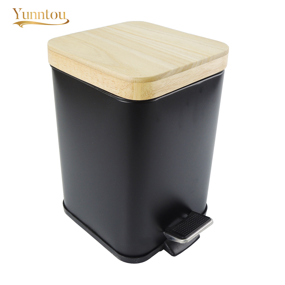Yunntou 3l Metal Dustbins Square Bathroom Bedroom Trash