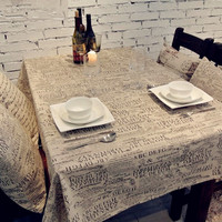 High Quality European Style Letter Linen Tablecloths Microwave Oven Dust Cover Table Cloth
