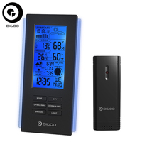 Digoo DG TH6699 Wireless Thermometer Hygrometer Weather Station Barometer Forecast Thermometer USB Outdoor Sensor Clock