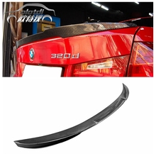 F30 V style carbon fiber rear spoiler car trunk lip auto boot wing for B&W