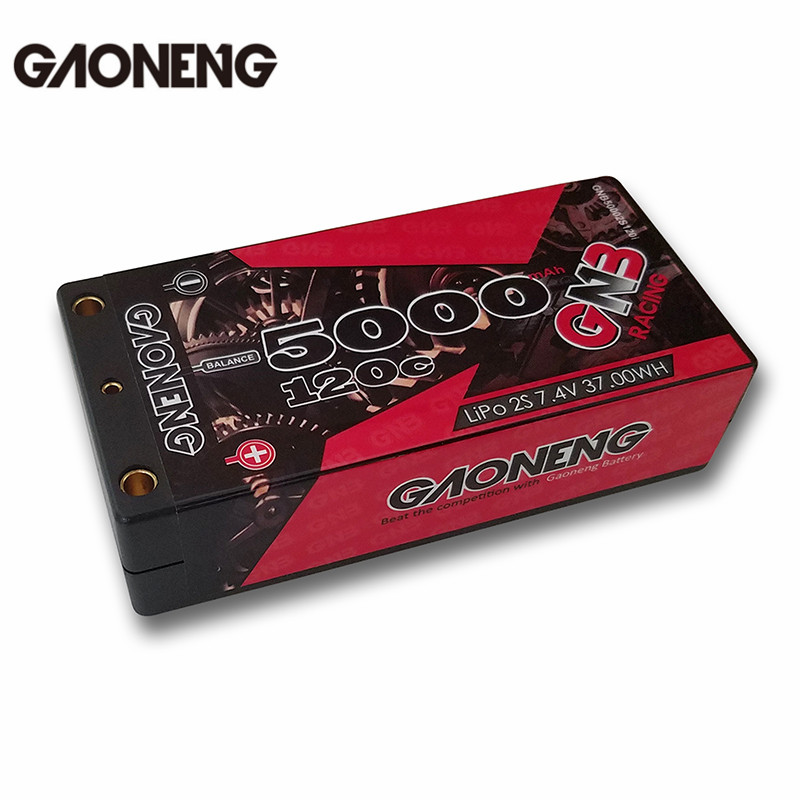 2018 Newest Gaoneng GNB 7.4V 5000MAH 2S 120C Lipo Battery T Plug For RC Toys Models Car Helicopter Drone Power DIY Spare Parts mos rc airplane lipo battery 3s 11 1v 5200mah 40c for quadrotor rc boat rc car