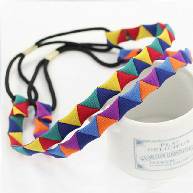 Women Beach Colorful Hair Bands Spa Swim Headband Supplies Headwear Accessories Geometric Band
