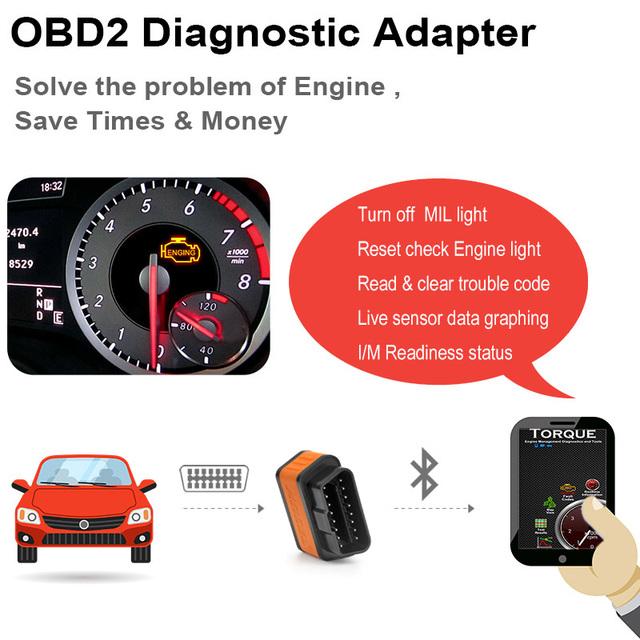 Ancel icar2 OBD2 ELM327 V1.5 Bluetooth Adapter Automotive Scanner Car Diagnostic Tool ELM 327 Car Error Code Reader ODB2 ELM327