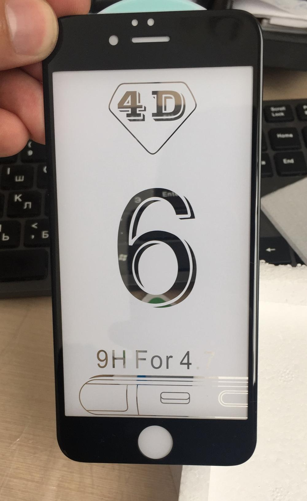 3d Round Curved Edge Tempered Glass For Iphone 6 6s Plus 7 8 X Full Cover Clear 4d Premium On Received Like All Ok