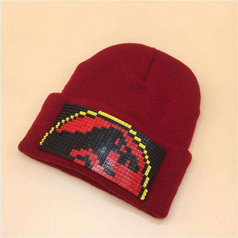 Custom made high quality bricks, high grade lego hats, red dates, cartoon, detachable hats for men and women