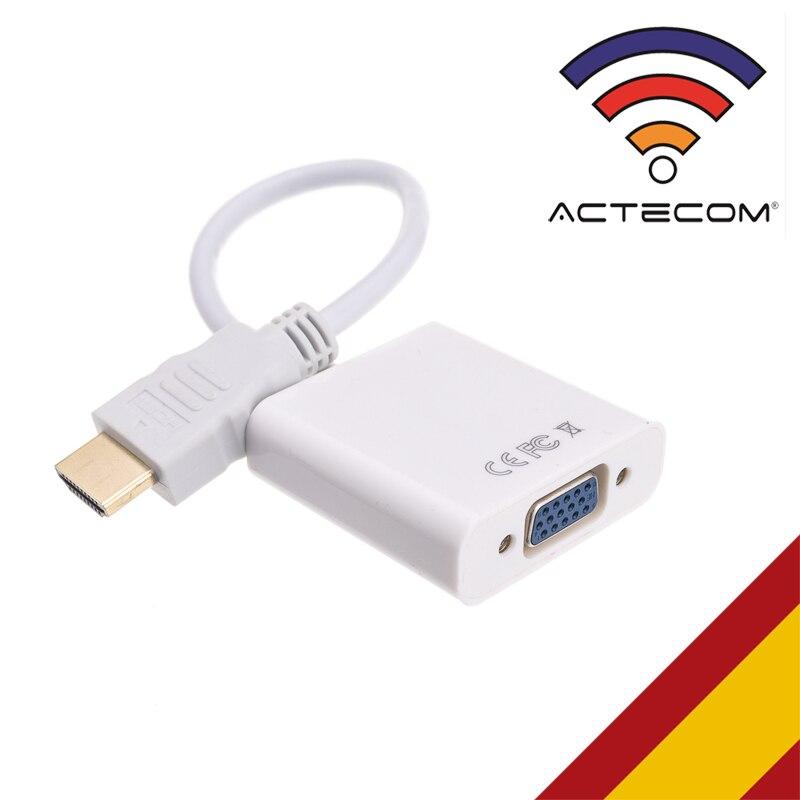 ACTECOM ADAPTADOR HDMI A VGA PARA PC PORTATIL DVD APPLE TV PS3 SKY HD XBOX 360 IMAGEN TV