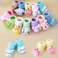 Newborn Baby Boy Girl Anti Slip Shoes Animal Cartoon Slippers Boots Socks(China)