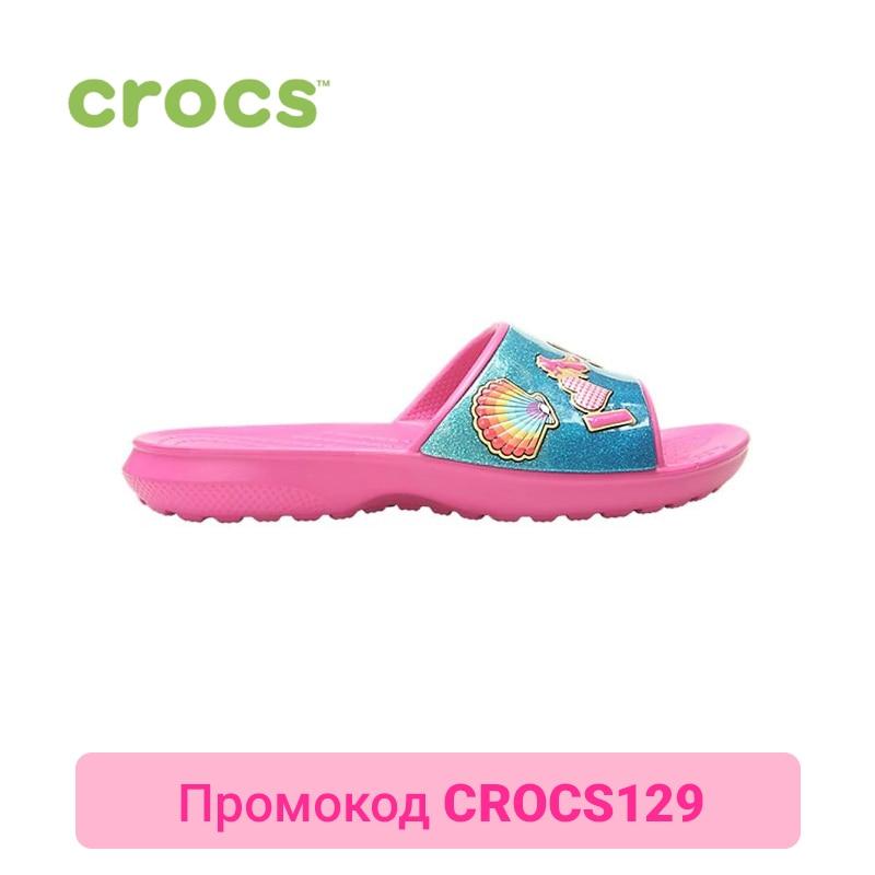 CROCS CrocsFL BeachFun Slide K KIDS or boys/for girls, children, kids шлепанцы для девочки crocs classic slide k цвет розовый 204981 6x0 размер c12 29 30