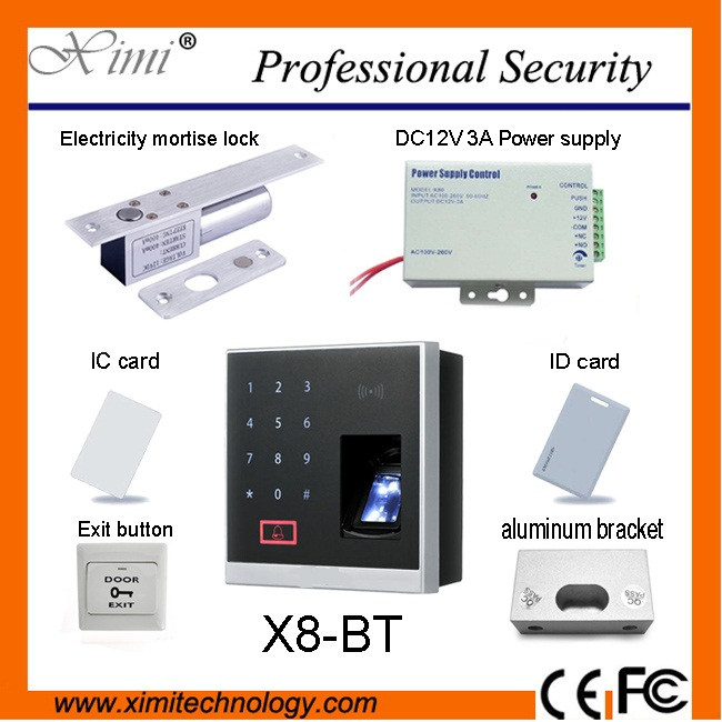 free shipping Bluetooth fingerprint ID card access control device and ZKBioBT application X8-BT free shipping fingerprint keypad access control ko s20