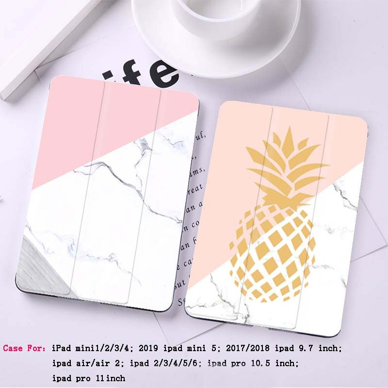 Marble Printed Tablet Cover For IPad 2018 Pro 9.7 10.5 11 Air 1 2 Stand Shell Anti Drop/Dust For IPad 2 3 4 Mini 1 2 3 4 5 Case
