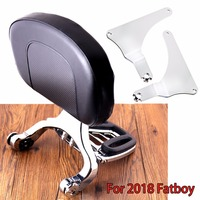Chrome Fixed Mount&Multi Purpose Adjustable Driver Passenger Backrest For Harley FATBOY 2018 Model