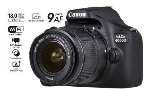 Canon EOS 4000D T100 DSLR caméra Wi-Fi avec objectif 18-55mm