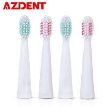 AZDENT AZ-3 Pro – ensemble de têtes de brosse à dents électrique sonique, remplacement souple, soins professionnels, nettoyage en profondeur, 4 pièces/lot