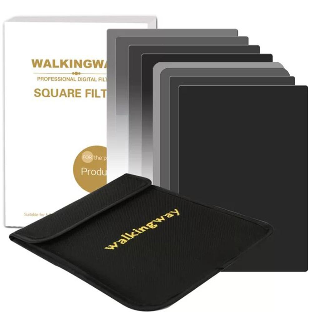 A piedi Modo di 150*100mm Della Macchina Fotografica kit filtro Quadrato set ND2 ND4 ND8 ND16 Netural Density ND filtro per DSLR Cokin Zomei HOYA Nisi