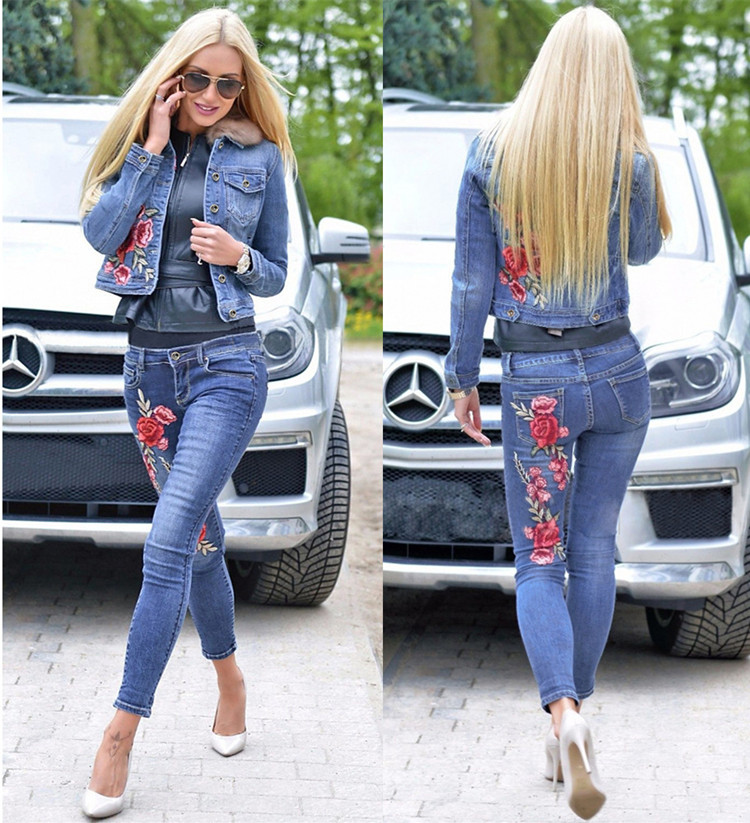 Polyhymnia Women Jeans jacket clothes suit pants