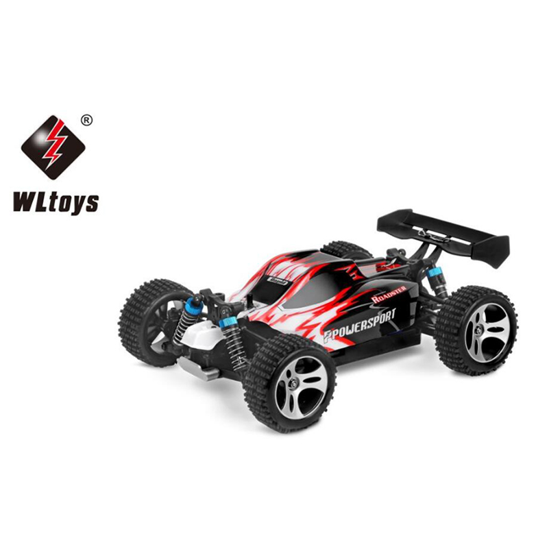 Remote control car WLtoys A959 2.4G 1/18 ratio remote control off-road racing high-speed 50KM/H stunt SUV toy RC mini car wltoys k929 1 18 2 4ghz 4 channel high speed remote control racing car model toy green