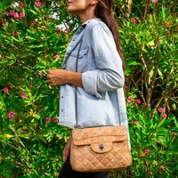 Ship from Portugal natural cork with silver Small quilted cork lady handbag eco friendly vegan gift BAGC 003