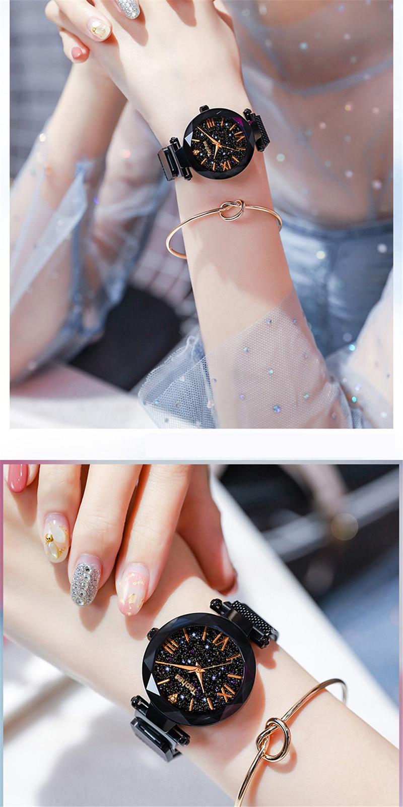 Luxury Women Watches Magnetic Starry Sky Female Clock Quartz Wristwatch Fashion Ladies Wrist Watch reloj mujer relogio feminino (13)