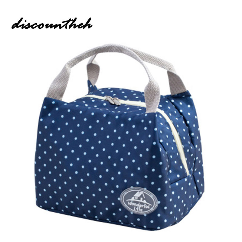 Fashion Portable Insulated Canvas Lunch Bag Thermal Food Picnic Lunch Bags For Women Kids Men Lunch Box Bag Tote