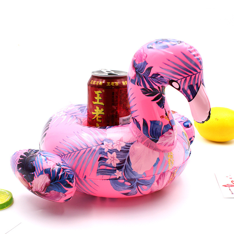 New Pattern Flamingo/Doughnut/Crab/Swan Float Cup Holder Inflatable Swimming Pool Coasters Baby Shower Beach Decorations