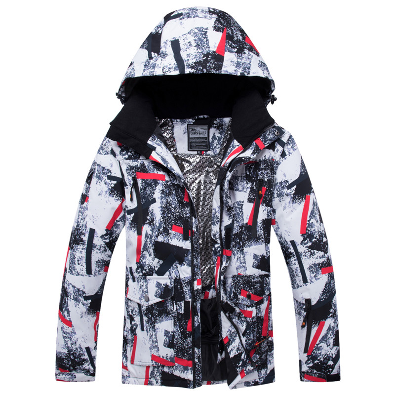 RIVIYELE Men Ski Jacket Snowboard Clothing Windproof Waterproof Super Warm Thicken Outdoor Sport Wear Skiing Male Winter Jacket 2018 riviyele men ski jacket snowboard jacket winter clothing windproof waterproof breathable outdoor sport wear super warm coat