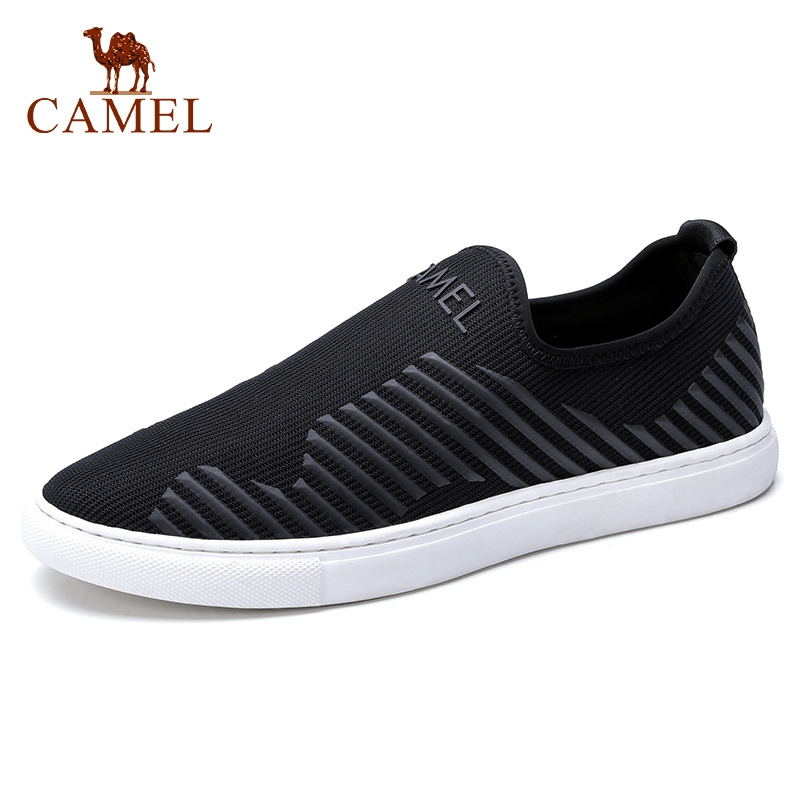 CAMEL Men Shoes Men s Casual Shoes Elastic Mesh Lightweight Running Male Skate Flexible Wear resistant