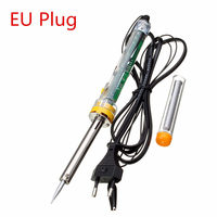 60W EU Plug 220V 200-450 Celsius Electronic Soldering Iron Electric Welding Solder UK/EU Plug Wholesale Price