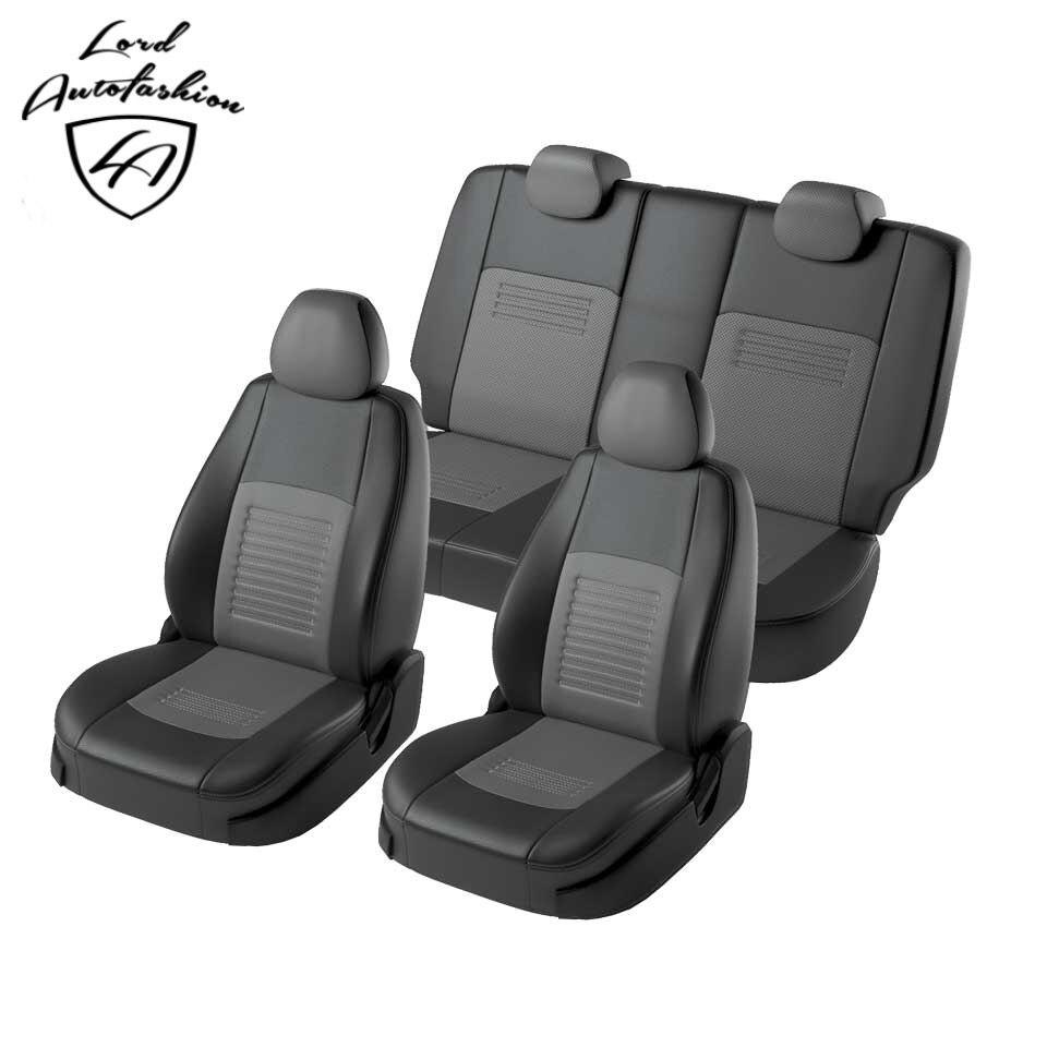 Para Lada Vesta SW Cruz 2017-2019 especial tampas de assento COM apoio de BRAÇO TRASEIRO conjunto completo (Eco-couro, modelo de Turim)
