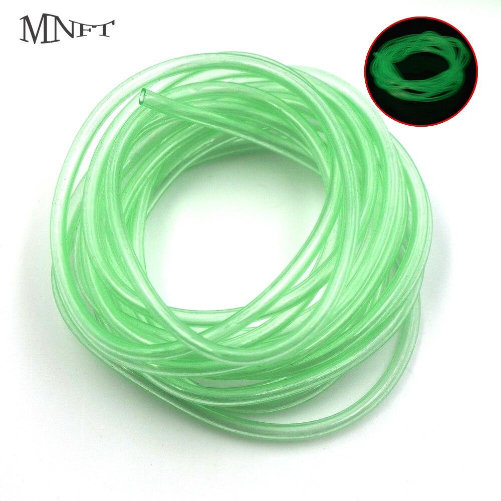 MNFT 4Pack/8Meters Luminous Soft Plastic Tubes Green Elastic Glow Tubing Fly Tying Riging Tubelumo Fishing Material