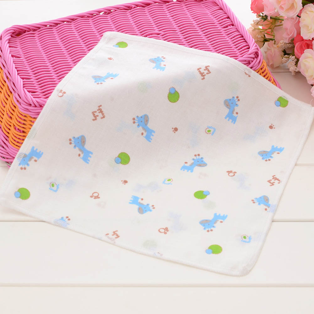 4 шт./лот 25*25 см Baby Face Полотенца высокой плотности 100% хлопок марли мультфильм детские вещи ручной Полотенца toalha Infantil