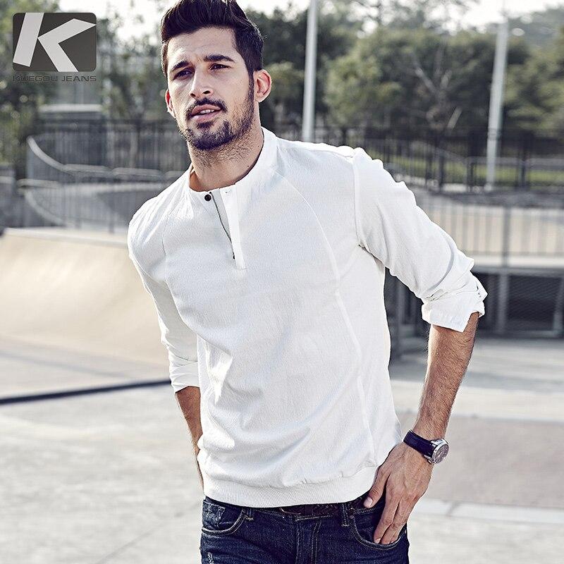 KUEGOU Brand menswear NEW autumn long sleeve mens shirt casual homme fashion mens shirt 5566
