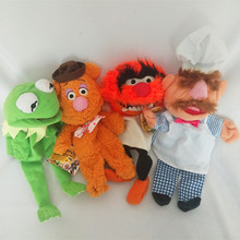 Free shipping The Muppet Show plush hand puppets,Kermit the Frog,Fozzie Bear,drummer,The Swedish Chef, doll for kids toy dolls starpad for free shipping for earth eagle king dd350e the hand 6 c direction