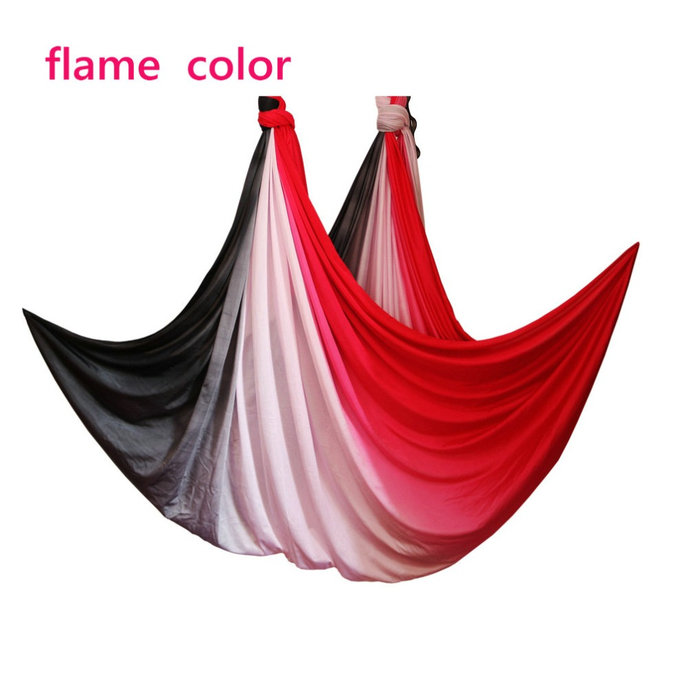 2019 New Anti Gravity Aerial yoga hammock fabric Flying Yoga Swing Bed Aerial Traction Device Fitness yoga belts for sporting-in Yoga Belts from Sports & Entertainment    1