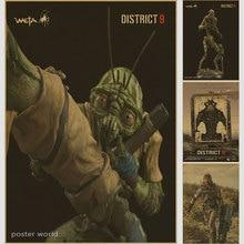 District 9 Sci-Fi Fantasy Movie Film Vintage Retro Decorative Frame Poster DIY Wall Stickers Home Posters Home Decor