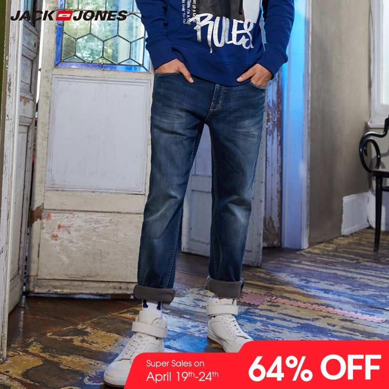 JackJones Men's Winter Stretch Slim Fit   Jeans   Stretch Biker Pants Fashion Classical Denim   Jeans   Men Slim Male   Jeans   |218332517