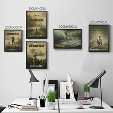 Vintage Classic The Walking Dead TV Series Movie Poster Retro Kraft Paper Bar Cafe Home Decor Painting Wall Sticker